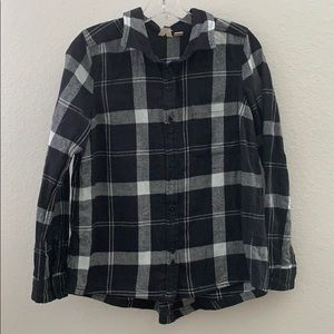 Roxy Xs plaid button up long sleeve new